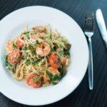 Pasta Alfredo de camarones y espinacas: Deliciosa receta