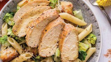 ensalada pasta césar pollo