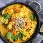 Ingredientes y preparación del bacalao al curry