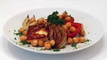 Bandeja de Halloumi, fácil y saludable receta