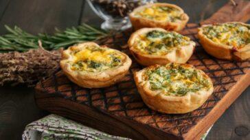 Mini quiches de pizza: ingredientes y preparación fácil