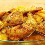 pollo asado con papas receta