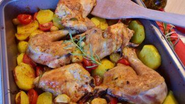pollo con papas al horno