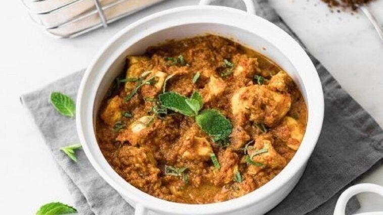 pollo curry papas