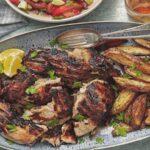 Receta de pollo piri-piri con boniatos y brócoli
