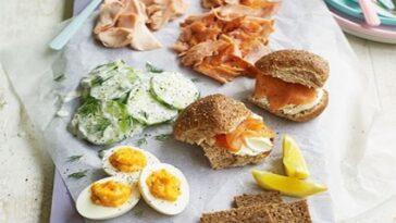 Plato de picnic de salmón: ideas deliciosas