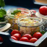 tarros ensalada hummus