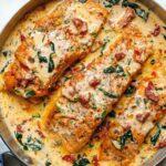salmón, patatas y puerros