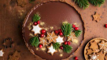pastel de navidad de chocolate