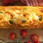 plumcake salado con calabacines aceitunas y tomates