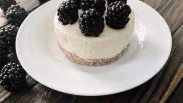 pastel frío de yogur