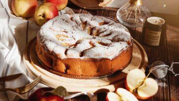 tarta pudín de manzana